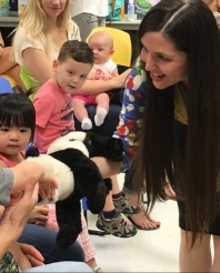 Puppets at storytime for babies and children