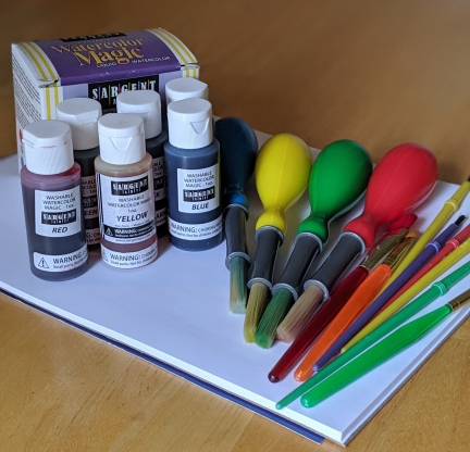Early childhood art supplies